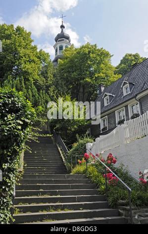 Steep stairs - Stock Photo