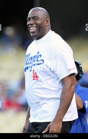 Los Angeles, California, USA. May 28, 2013.  Magic Johnson before game two of the Freeway Series between the Los - Stock Photo