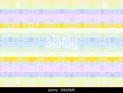 White pattern in a striped background - Stock Photo