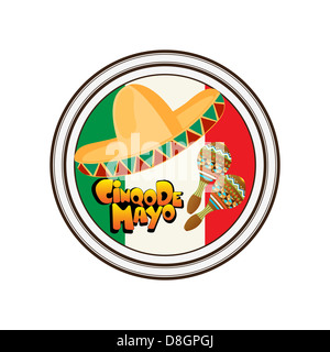 Cinco de Mayo stamp - Stock Photo