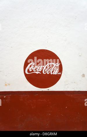 Coca Cola Logo On Red Background Stock Photo 134013368 Alamy