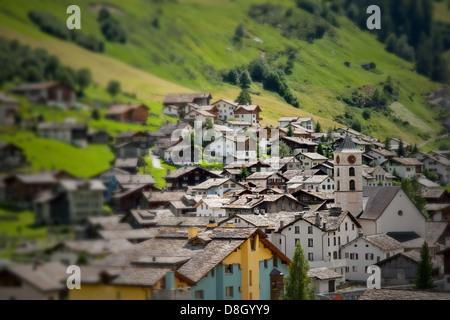 Alps Village - Stock Photo