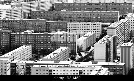 Prefabricated buildings, Jena, Thuringia, Germany - Stock Photo