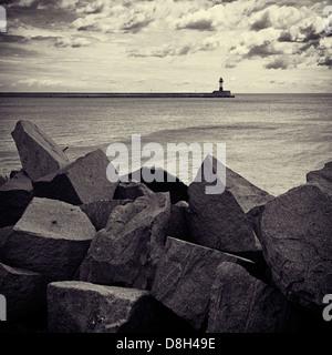 Lighthouse of Sassnitz, Rugen Island, Germany - Stock Photo
