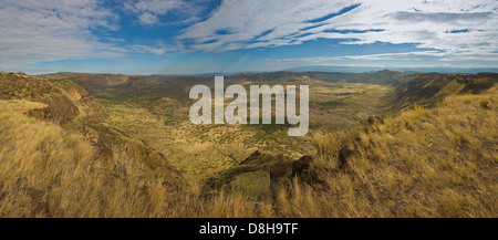 Silali caldera is the largest caldera volcano in the Northern Rift Valley. - Stock Photo
