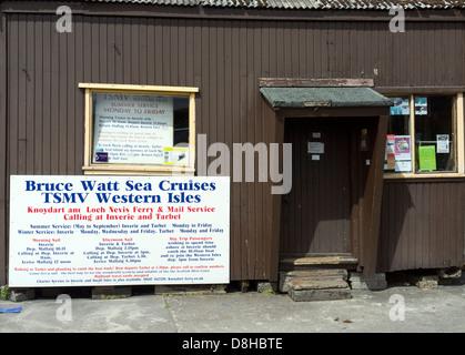 Pleasure Cruise booking office at Mallaig Harbour Scotland UK - Stock Photo
