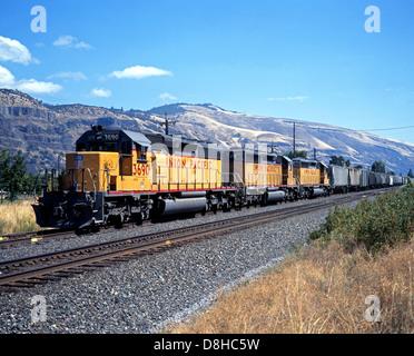 Union Pacific Locomotives, Oregon, USA - Stock Photo