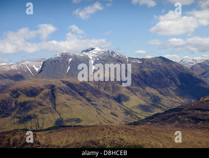 Ben Nevis from the air, North West Highland Scotland - Stock Photo
