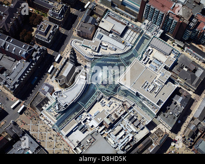 An overhead view of Trinity Shopping Centre, Leeds, West Yorshire, Northern England - Stock Photo