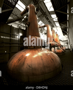The Tobermory Whisky Distillery copper Still - Stock Photo