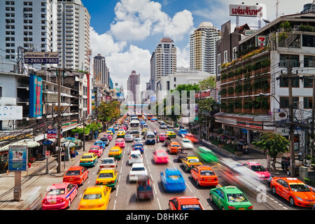 Traffic congestion in Central Bangkok, Thailand, South East Asia - Stock Photo
