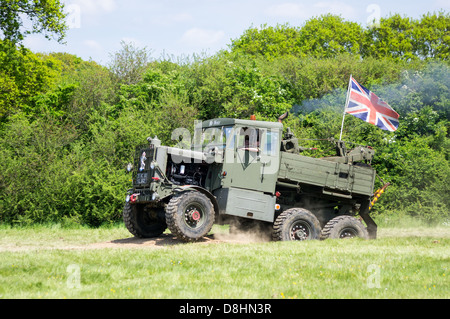 A Scammell Explorer British Army truck is put through it's paces at the 2013 Denmead Overlord, D-Day re-enactment - Stock Photo