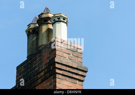 Old chimney stack on a victorian style house - Stock Photo