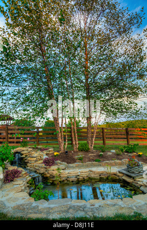 Pond in a rock garden design by bahaa seedhom north yorkshire england stock photo royalty free - Decoratie kooi ...