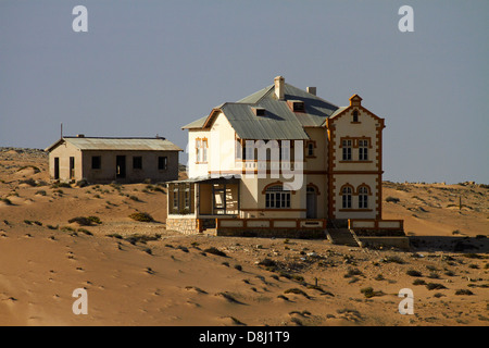 Manager's House, Kolmanskop Ghost Town, near Luderitz, Namibia, Africa - Stock Photo
