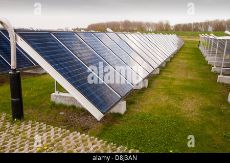 Sun Island in Almere, which is the Netherlands youngest town, in Flevoland, which was reclaimed from the sea - Stock Photo