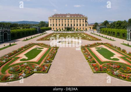 Privy Garden at Palace of Schonbrunn, Vienna, Austria - Stock Photo