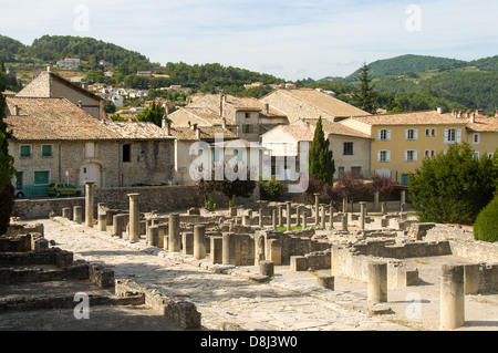 Roman Ruins at Vaison La Romaine, Provence, France - Stock Photo