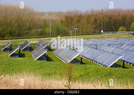 Sun Island in Almere, which is the Netherlands youngest town, in Flevoland, which was reclaimed from the sea. - Stock Photo