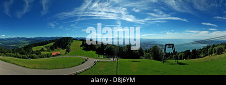 Panoramic view from Pfänder - Stock Photo