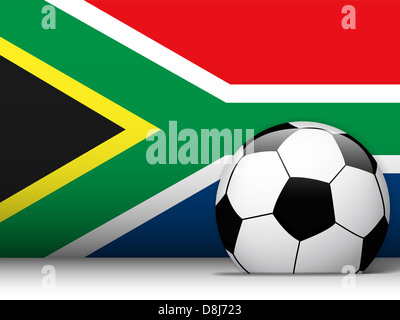 Vector - South Africa Soccer Ball with Flag Background Stock Photo