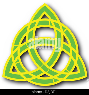 christian celtic trinity symbol - Stock Photo