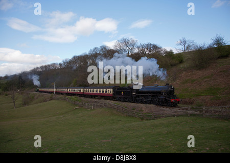 steam engines 61306,61002 - Stock Photo