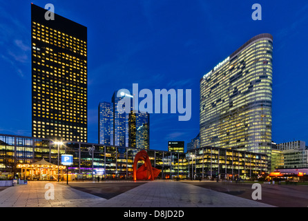 Financial district of La Defense, Puteaux, Paris, France - Stock Photo