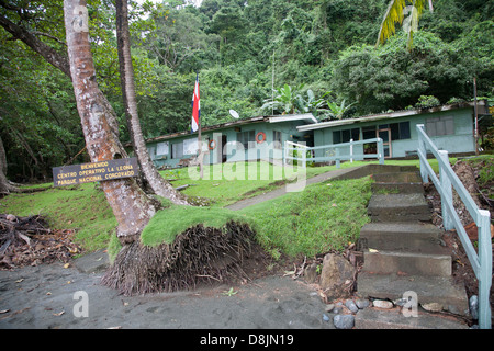 La Leona, Park Entrance, Corcovado National Park, Costa Rica - Stock Photo