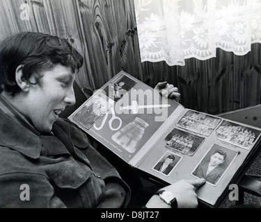 CHRIS FARLOWE English rock singer with his scrap album about 1967 - Stock Photo
