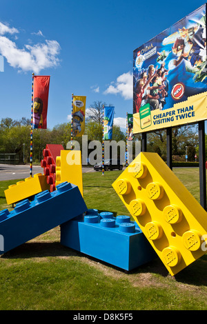 Entrance to themed Legoland amusement park in Windsor, Berkshire, England. - Stock Photo
