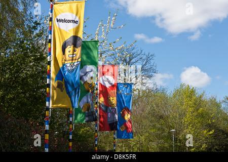 Entrance to themed Legoland amusement park in Windsor, Berkshire, England. - Stock Photo