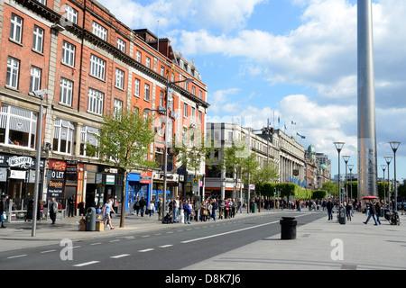 EUROPE, IRELAND, DUBLIN, CITY, CAPITAL, O'CONNELL STREET - Stock Photo