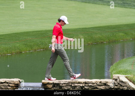 Dublin, Ohio, USA. May 30, 2013: Rory McIlroy in action during the first round of The Memorial Tournament at Muirfield - Stock Photo
