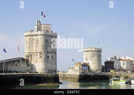 Tour Saint Nicolas and Tour de la Chaine - Stock Photo