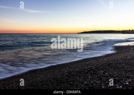 Winter seascape landscape Cote d'Azur - Stock Photo