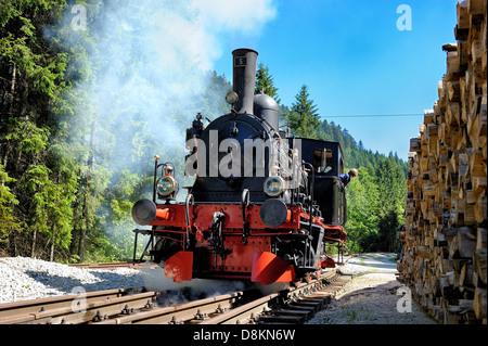 Historic trains; the Coni'Fer, Jura, France. - Stock Photo