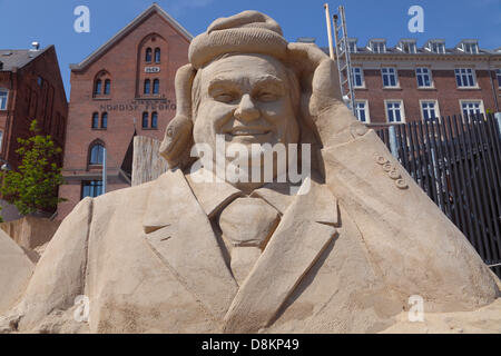 Copenhagen, Denmark. May 30th 2013. 17 sand sculptures of up to 10 m height built from 3,000 tons sand by 30 international - Stock Photo