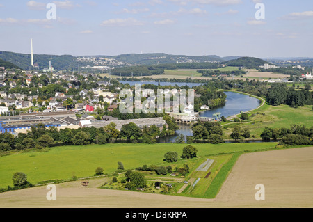 View from the Castle Volmarstein - Stock Photo