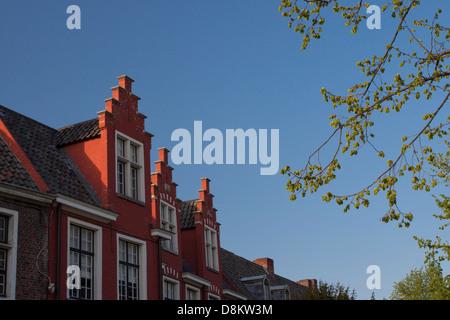Caratteristic roof of Begijnhof O.L.V. ter Hoyen Klein Begijnhof Gent - Stock Photo