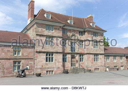 Royal Monmouthshire Royal Engineers headquarters, Monmouth, Wales, UK - Stock Photo