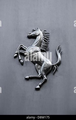 Ferrari Prancing Horse Logo, Cavallino Rampante. - Stock Photo