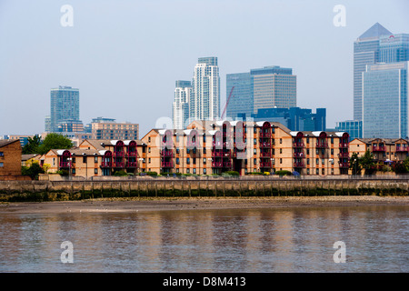 Caledonian Wharf Isle of Dogs London E14 - Stock Photo