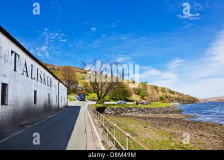 Talisker distillery buildings exterior Isle of Skye Highlands and Islands Scotland UK GB EU Europe
