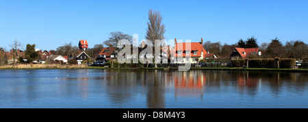 The Mere at Thorpeness village, Suffolk County, England - Stock Photo