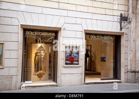 Italy, Lazio, Rome, Via del Condotti, Exterior of the Dolce and Gabbana shop. - Stock Photo