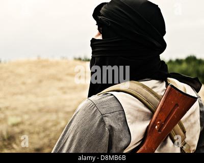 Muslim rebel - Stock Photo