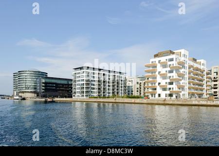Apartments in Vesterbro, Sydhavnen, Copenhagen, Denmark - Stock Photo