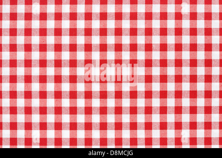 Red and white tablecloth texture background - Stock Photo