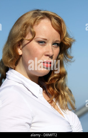 young redheaded woman - Stock Photo